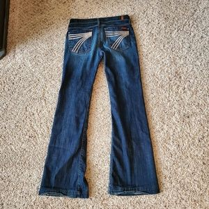 7 For All Mankind Dojo Wide leg Flare Jeans Womens